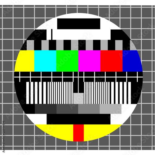 Photo  Color test tv background