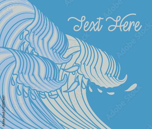 Kanagawa Waves Vector Background Canvas Print