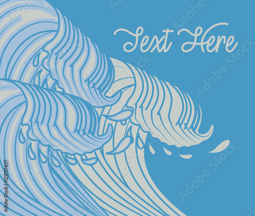 Photo Kanagawa Waves Vector Background