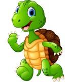 Cute turtle cartoon waving hand