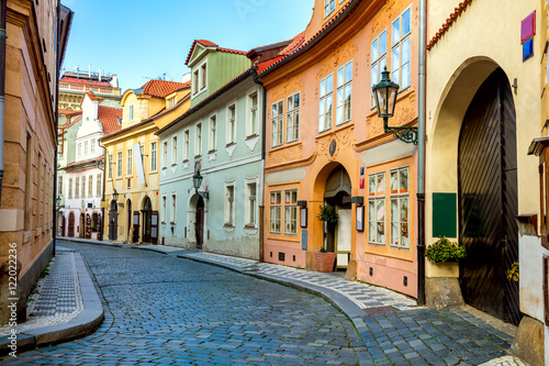 Old Street in Prague at the morning, downtown