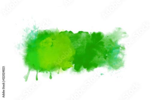 Plakat Zielony abstrakcjonistyczny akwareli grafiki tła sztandar