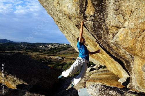 Foto op Plexiglas Alpinisme free climbing