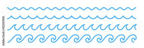 Niebieska linia wzór ornament fala oceanu