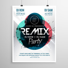 Remix Club Party Flyer Poster ...