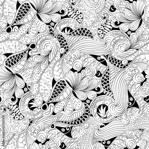 Fotografie, Obraz  Tracery seamless calming pattern