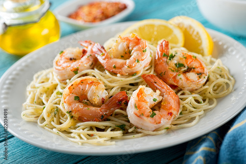 Shrimp Scampi with Spaghetti