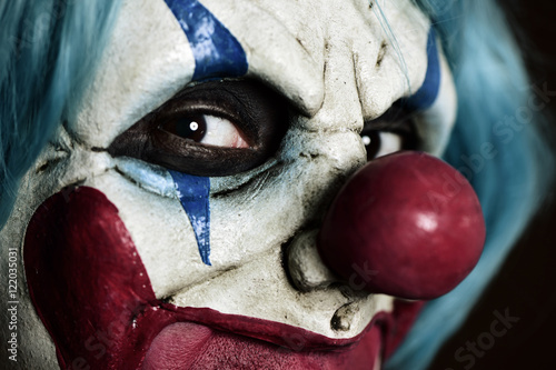 Tablou Canvas scary evil clown
