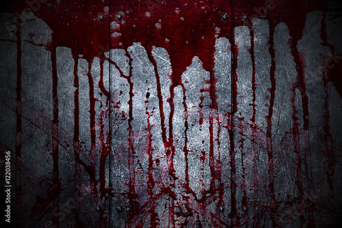Stampa su Tela set 8. bloody metal wall  in the dark