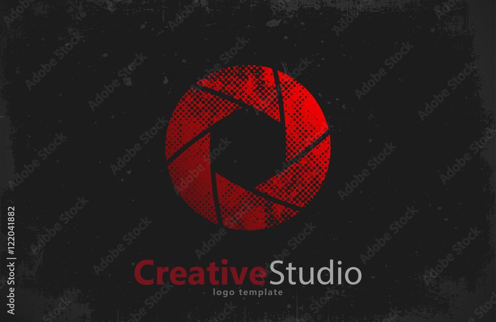 Fototapety, obrazy: Creative studio logo design. Camera logo. Creative logo. Shutter logo