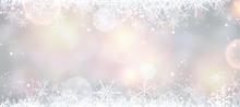 Winter Banner With Snowflakes.