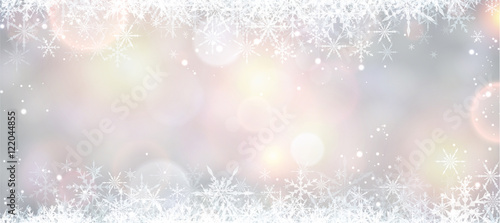 Winter banner with snowflakes. Fototapet