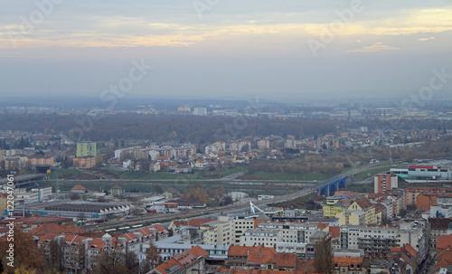 Montage in der Fensternische Kiew cityscape of Maribor, view from Piramida hill