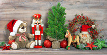 Christmas Decoration Antique Toys Teddy Bear Ornaments