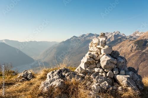 Pile of stones. Canvas-taulu
