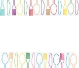 cutlery menu vector