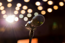 Wireless Microphone On Stage, ...