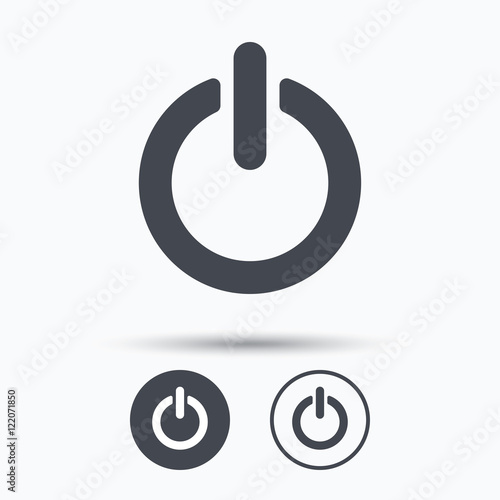 Fotografía  On, off power icon. Energy switch sign.