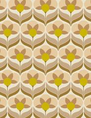 Panel Szklany Style Papier peint des années soixante
