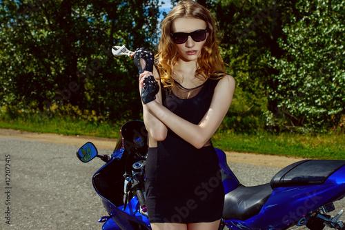 Fotobehang Fiets glamorous biker