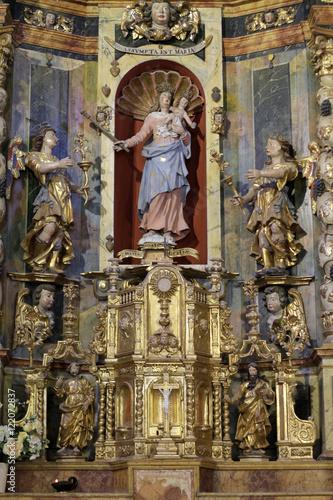 Fotografie, Obraz  Retable. Eglise de la Trinité. Les Contamines-Montjoie.