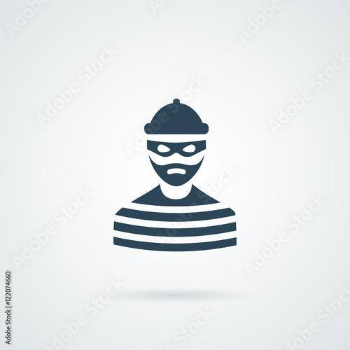 Fotografía  thief criminal prisioner icon
