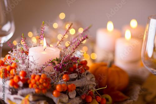 Fotografia  Festlich gedeckter Tisch im Herbst