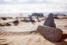 Grabstein In Der Wüste