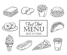 Vector Hand Drawn Icons Fast F...