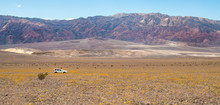 Death Valley Pano With Jeep