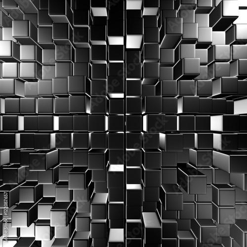 Fototapeta tło z metalicznych sześcianów