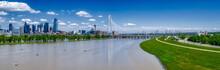 Trinity Park In Dallas, Texas. Margaret Hunt Hill Bridge