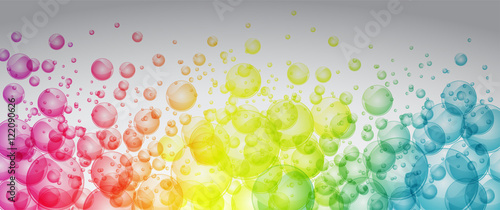 Obraz na plátne Rainbow color bubbles