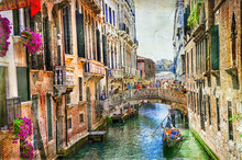 Romantic Venice - Canals And G...