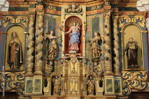 Fotografie, Obraz  Retable. Eglise Notre-Dame de la Gorge.