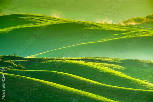 Obraz na płótnie Waves hills, rolling hills, minimalistic landscape