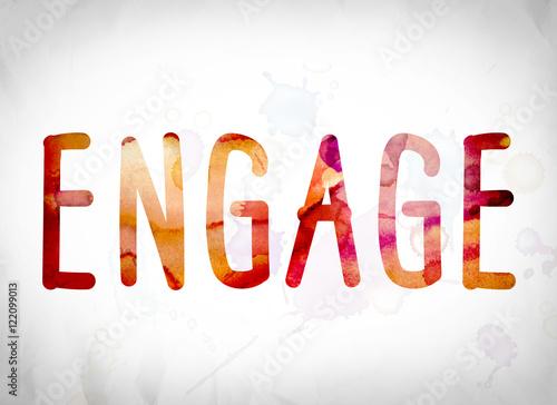 Fotografie, Obraz  Engage Concept Watercolor Word Art