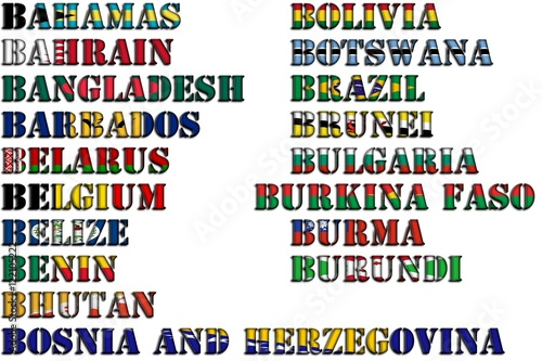 Country Names In Colors Of National Flags Full Kit Part 2 Of 12