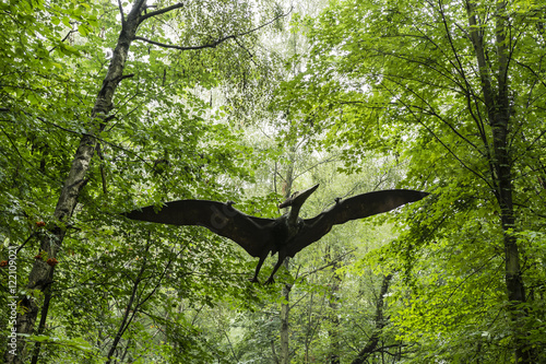 Fotografering  Plastic Mannequin flying carnivorous dinosaur Pteranodon.