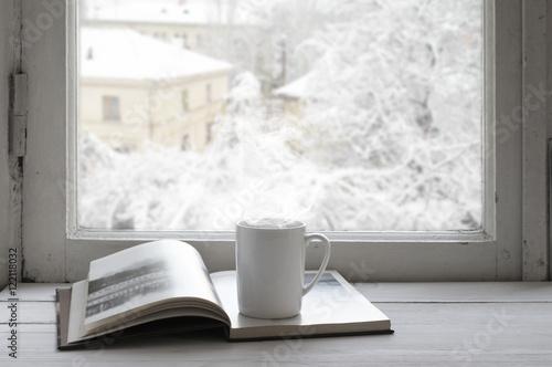 Staande foto Thee Cozy winter still life