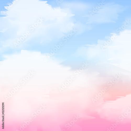 akwarela-streszczenie-tlo-nieba-z-chmurami
