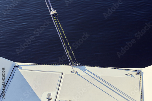 Fotografie, Obraz  permanent backstay is attached to the top of the mast