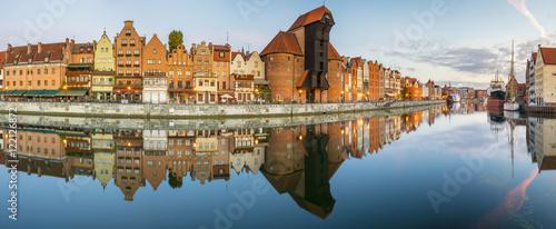 Poster Ville sur l eau Cityscape of Gdansk in Poland,Panorama