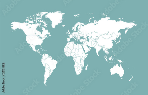 World map with borders flat design buy this stock vector and world map with borders flat design gumiabroncs Gallery