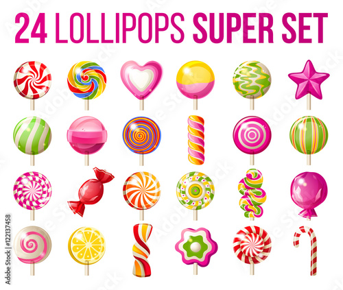 Photographie lollipops icons set