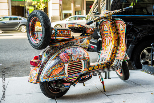 Tuinposter Scooter colorful decorative scooter