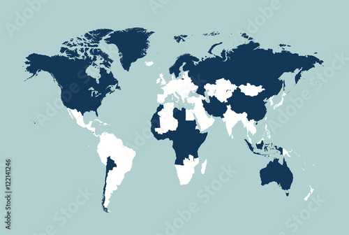 World map vector flat with borders illustration buy this stock world map vector flat with borders illustration gumiabroncs Images