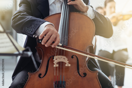 Professional cello player Fototapeta