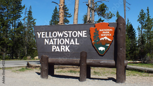 Yellowstone Sign Canvas Print
