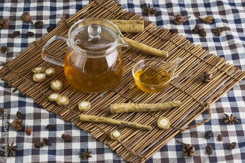 Stampa su Tela Burdock herbal tea
